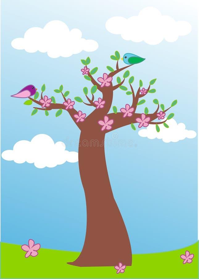 απομονωμένο ανασκόπηση λευκό δέντρων άνοιξη στοκ φωτογραφία με δικαίωμα ελεύθερης χρήσης