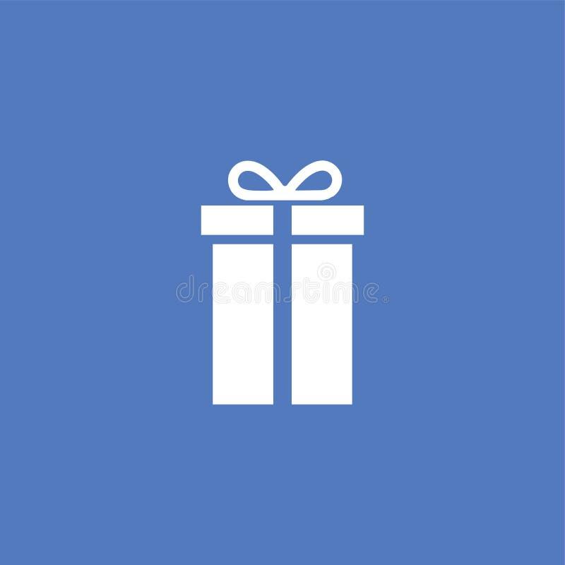 Απομονωμένο απεικόνιση διάνυσμα εικονιδίων κιβωτίων δώρων απεικόνιση αποθεμάτων