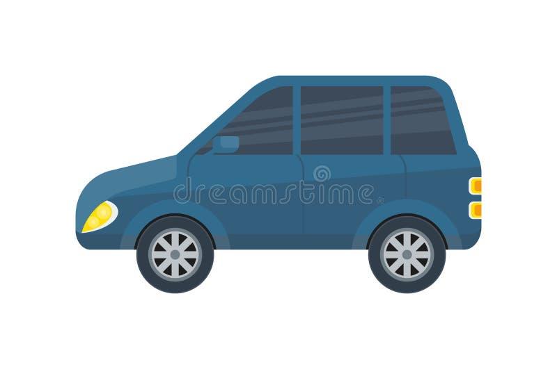 Απομονωμένο αυτοκίνητο διανυσματικό εικονίδιο οικογενειακών πόλεων διανυσματική απεικόνιση