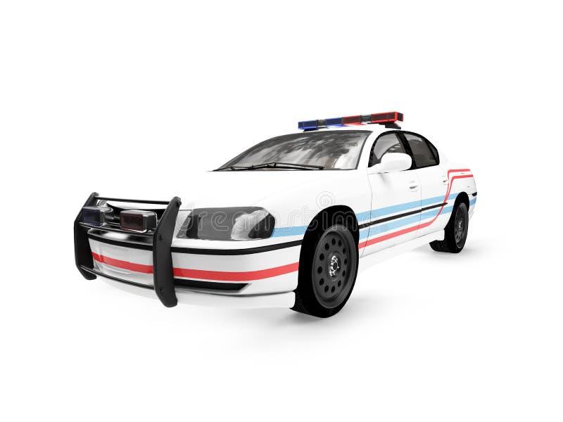 απομονωμένο αυτοκίνητο λευκό αστυνομίας ελεύθερη απεικόνιση δικαιώματος