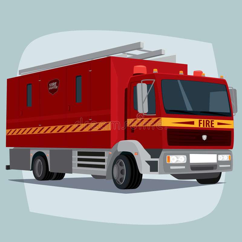 Απομονωμένο αυτοκίνητο πυροσβεστικών αντλιών ελεύθερη απεικόνιση δικαιώματος