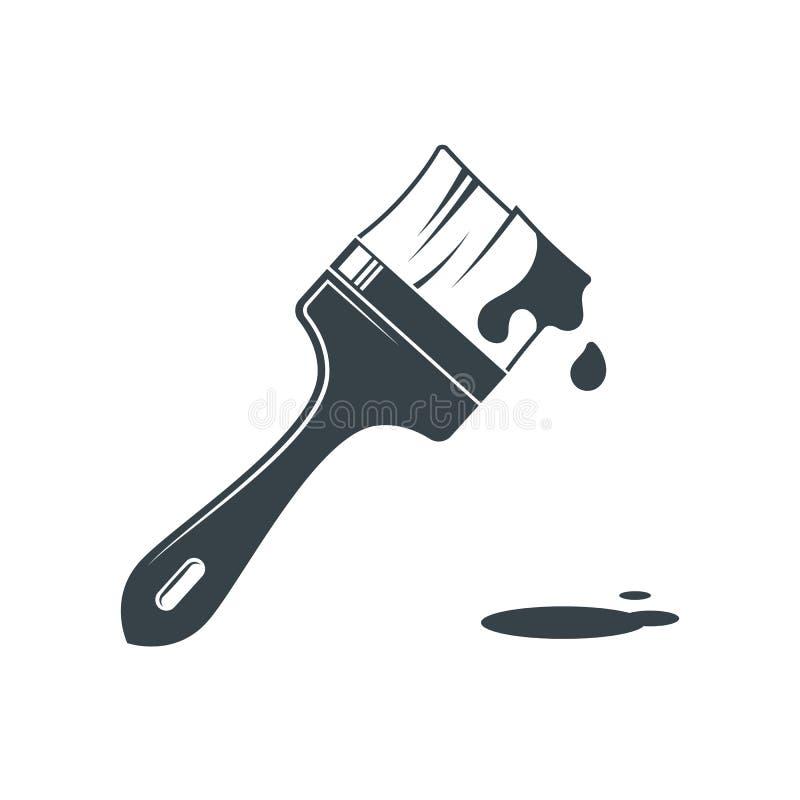 απομονωμένο βούρτσα λευκό χρωμάτων Ζωγραφική και αποκατάσταση εικονίδιο ΛΟΓΟΤΥΠΟ στοκ εικόνα με δικαίωμα ελεύθερης χρήσης