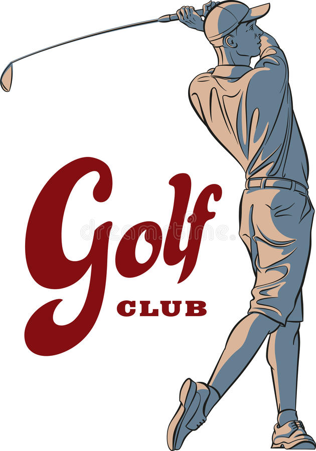 απομονωμένο γκολφ καλυμμένο φορέας στούντιο απεικόνιση αποθεμάτων
