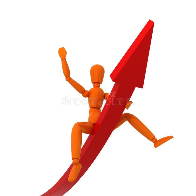απομονωμένο γραφική παράσταση μανεκέν πορτοκαλί στοκ φωτογραφία με δικαίωμα ελεύθερης χρήσης