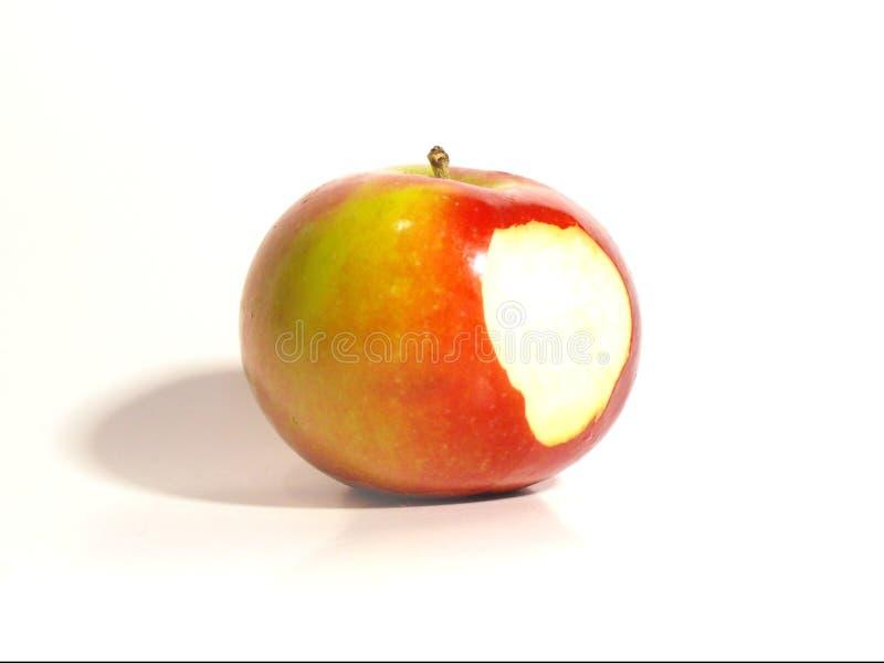 Απομονωμένο δαγκωμένο μήλο στοκ εικόνα με δικαίωμα ελεύθερης χρήσης