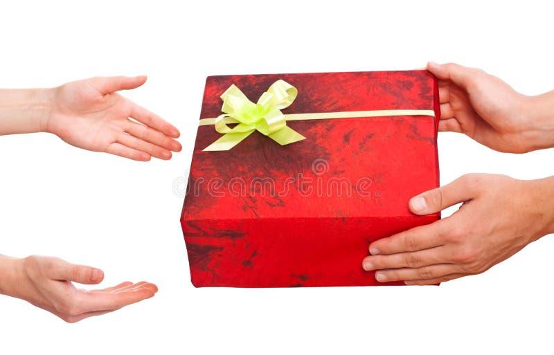 Απομονωμένο δώρο Χριστουγέννων στην άσπρη ανασκόπηση στοκ εικόνα με δικαίωμα ελεύθερης χρήσης