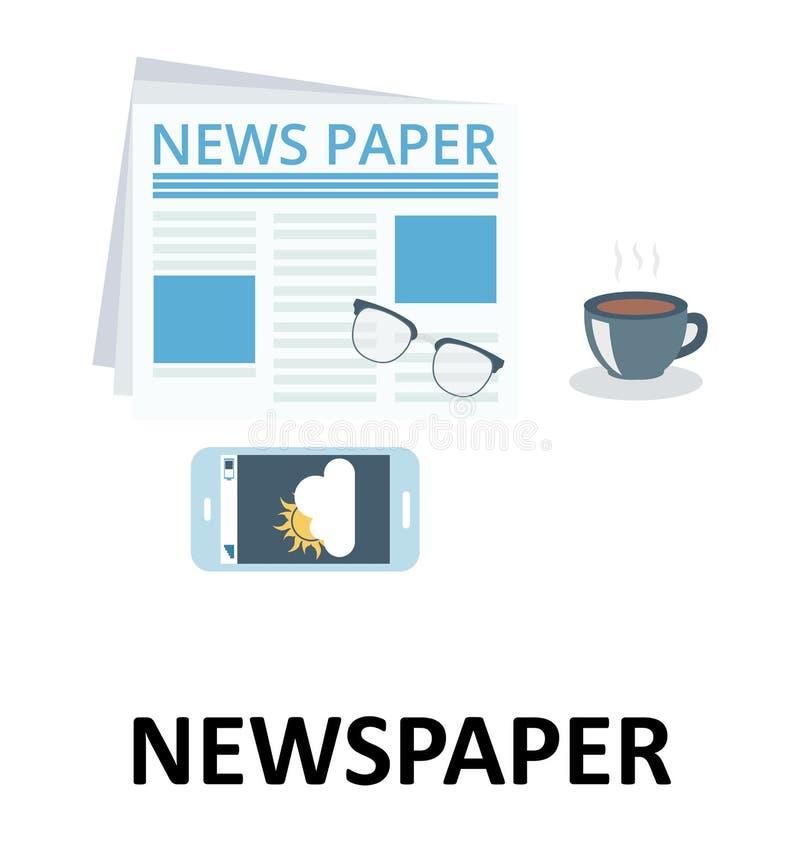 Απομονωμένο ειδήσεις εικονίδιο απεικόνισης χρώματος διανυσματικό απεικόνιση αποθεμάτων