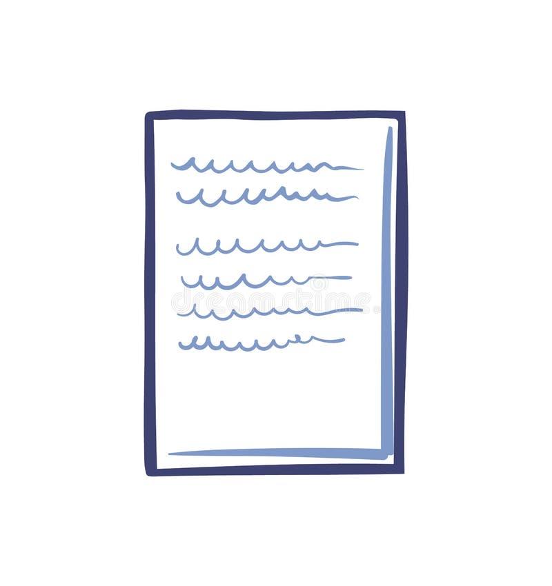 Απομονωμένο εικονίδιο διάνυσμα εγγράφου γραφείων Κατάλογος εγγράφων διανυσματική απεικόνιση