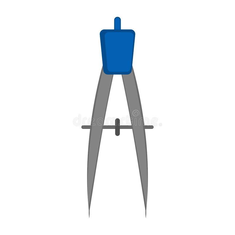Απομονωμένο εικονίδιο πυξίδων γεωμετρίας απεικόνιση αποθεμάτων