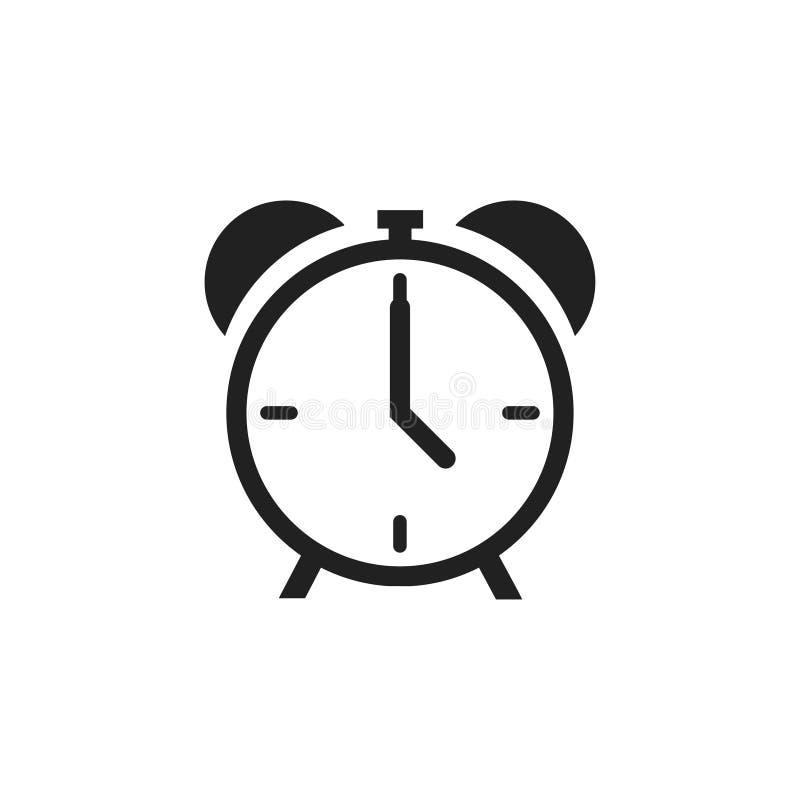 Απομονωμένο εικονίδιο ρολογιού συναγερμού σε λευκό φόντο Σύμβολο χρονικού ορίου Κλασικός παλιός συναγερμός ελεύθερη απεικόνιση δικαιώματος