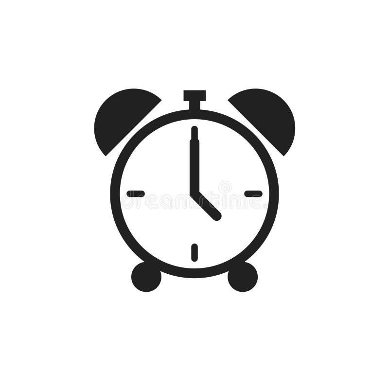 Απομονωμένο εικονίδιο ρολογιού συναγερμού σε λευκό φόντο Σύμβολο χρονικού ορίου Κλασικός παλιός συναγερμός απεικόνιση αποθεμάτων