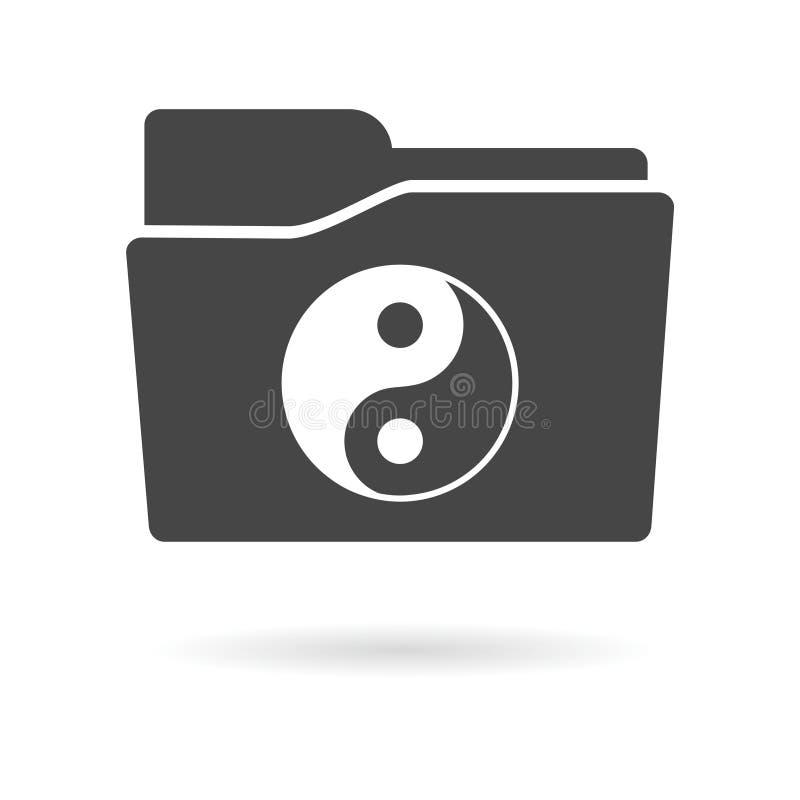 Απομονωμένο εικονίδιο φακέλλων αρχείων με ένα ying yang απεικόνιση αποθεμάτων