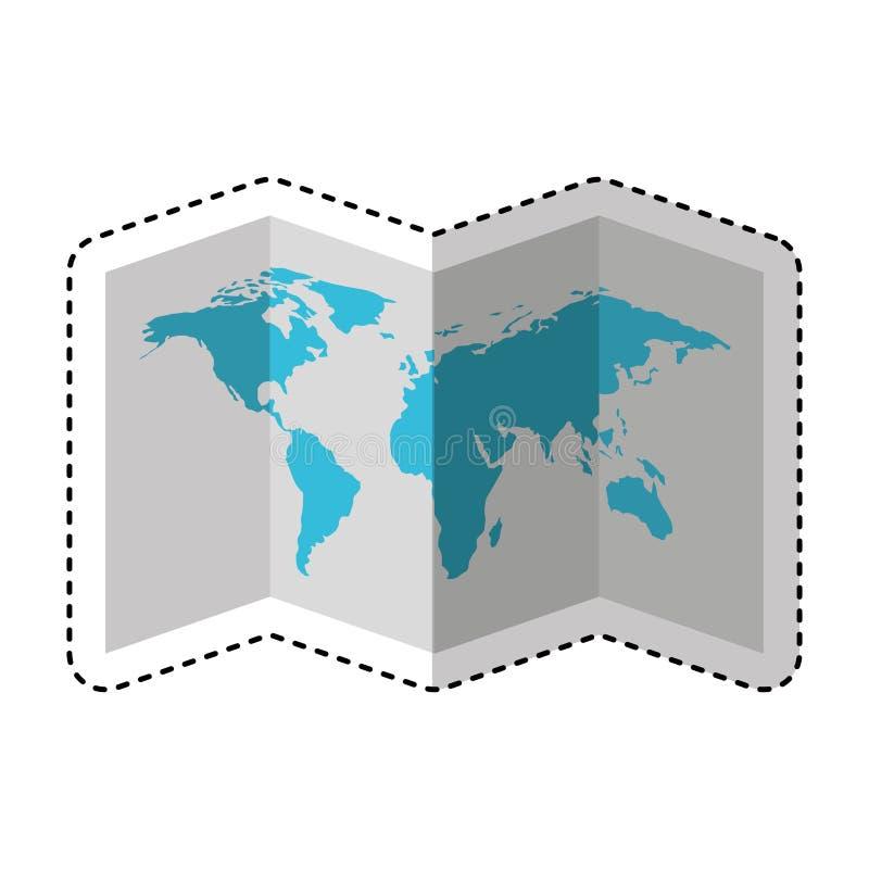 Απομονωμένο εικονίδιο οδηγών εγγράφου χαρτών διανυσματική απεικόνιση
