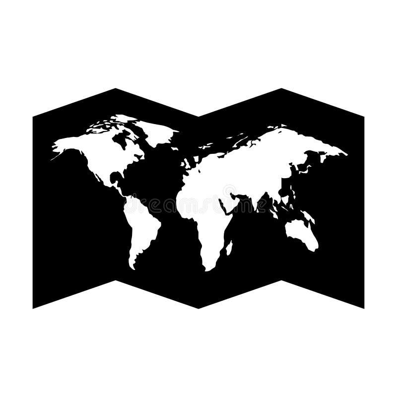 Απομονωμένο εικονίδιο οδηγών εγγράφου χαρτών ελεύθερη απεικόνιση δικαιώματος