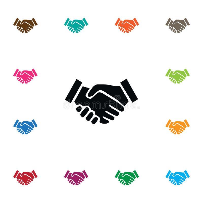 Απομονωμένο εικονίδιο συμφωνίας Το διανυσματικό στοιχείο συνεργασίας μπορεί να χρησιμοποιηθεί για τη συμφωνία, συνεργασία, έννοια απεικόνιση αποθεμάτων