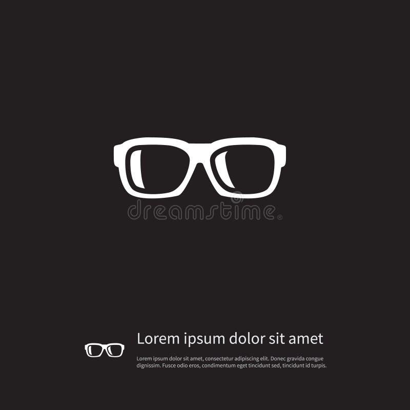 Απομονωμένο εικονίδιο Nerd Το διανυσματικό στοιχείο Specs μπορεί να χρησιμοποιηθεί για Specs, γυαλιά, Eyeglasses έννοια σχεδίου απεικόνιση αποθεμάτων
