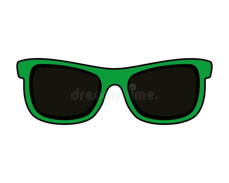 Απομονωμένο εξάρτημα εικονίδιο γυαλιών ηλίου ελεύθερη απεικόνιση δικαιώματος