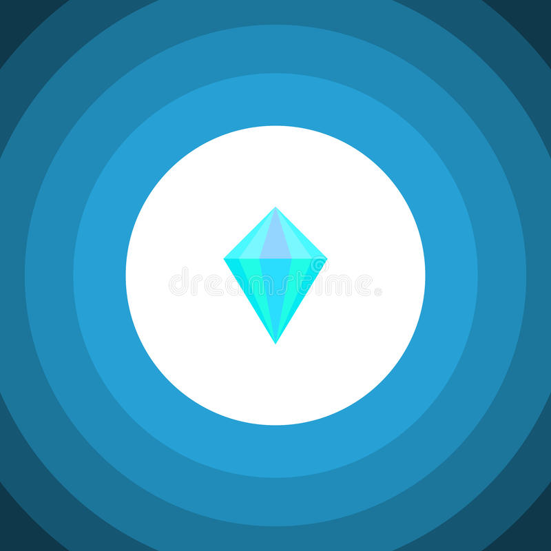 Απομονωμένο επίπεδο εικονίδιο καρατιού Το διανυσματικό στοιχείο πολύτιμων λίθων μπορεί να χρησιμοποιηθεί για το καράτι, διαμάντι, απεικόνιση αποθεμάτων