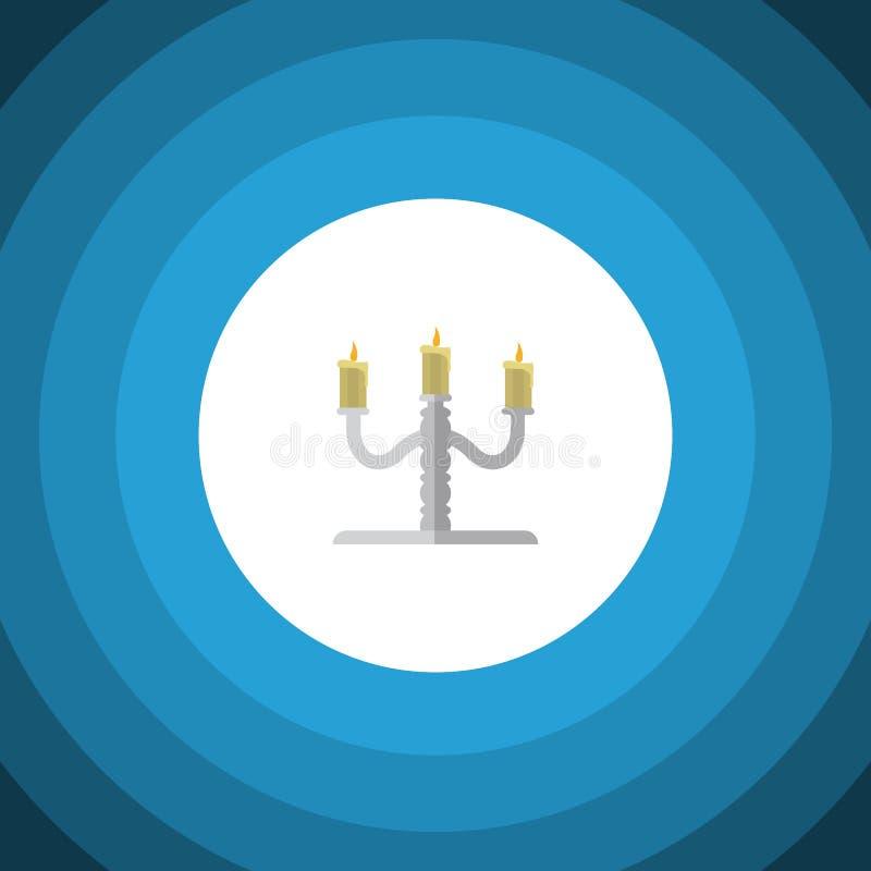 Απομονωμένο επίπεδο εικονίδιο κηροπηγίων Το διανυσματικό στοιχείο κηροπηγίων μπορεί να χρησιμοποιηθεί για το κηροπήγιο, κηροπήγιο διανυσματική απεικόνιση
