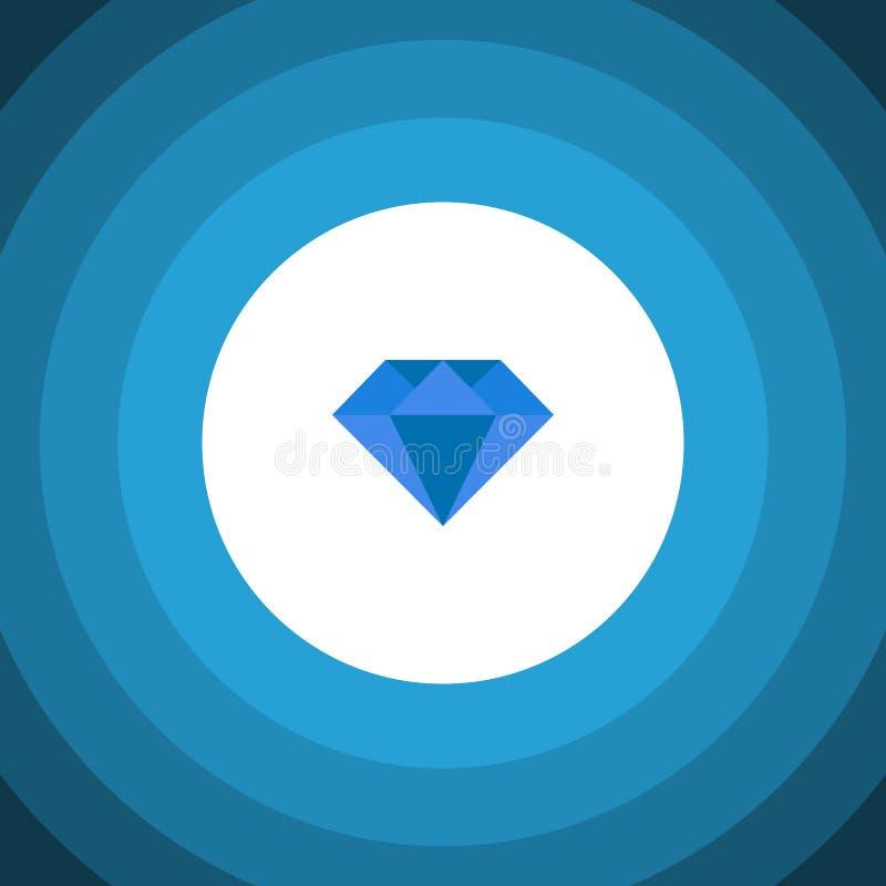 Απομονωμένο επίπεδο εικονίδιο πολύτιμων λίθων Το διανυσματικό στοιχείο καρατιού μπορεί να χρησιμοποιηθεί για το καράτι, διαμάντι, απεικόνιση αποθεμάτων