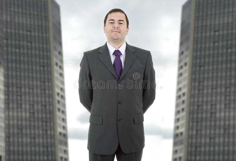 απομονωμένο επιχείρηση άτομο ανασκόπησης πέρα από το λευκό στοκ εικόνα