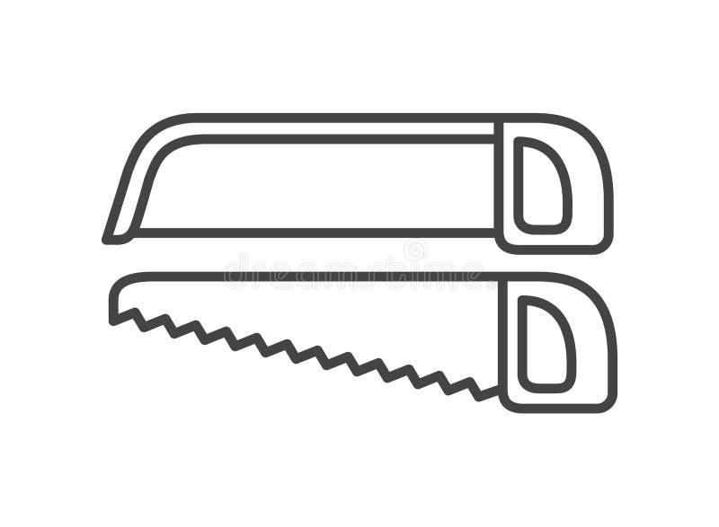 Απομονωμένο εργαλείο εικονίδιο πριονιών ελεύθερη απεικόνιση δικαιώματος