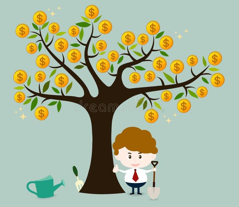 απομονωμένο λευκό δέντρων χρημάτων ελεύθερη απεικόνιση δικαιώματος