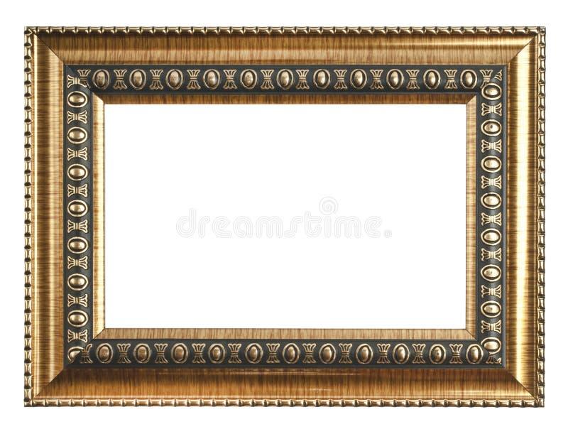 απομονωμένο λευκό εικόνων πλαισίων χρυσός Απομονωμένος στο λευκό στοκ φωτογραφία με δικαίωμα ελεύθερης χρήσης