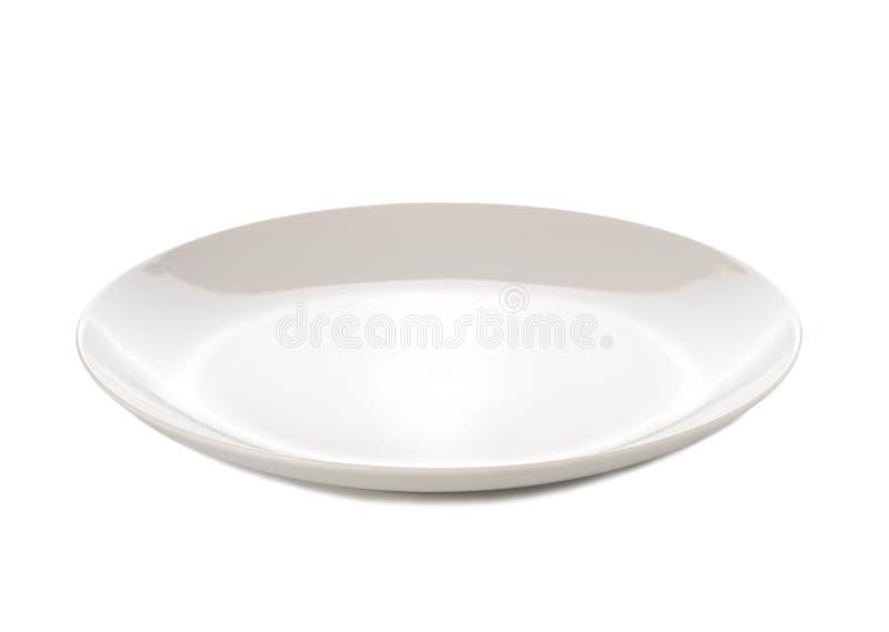 απομονωμένο λευκό πιάτων στοκ φωτογραφία με δικαίωμα ελεύθερης χρήσης