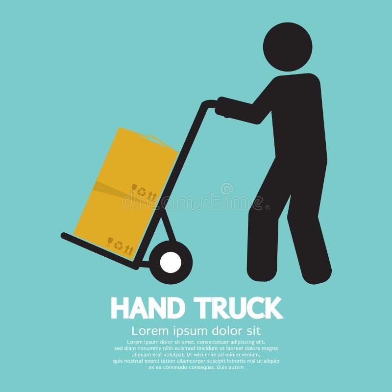 απομονωμένο λευκό truck χεριών ανασκόπησης απεικόνιση απεικόνιση αποθεμάτων