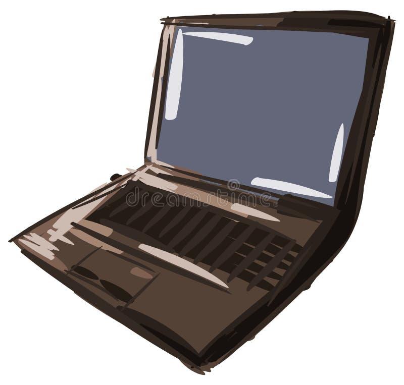 Απομονωμένο ζωηρόχρωμο lap-top υπολογιστών ελεύθερη απεικόνιση δικαιώματος