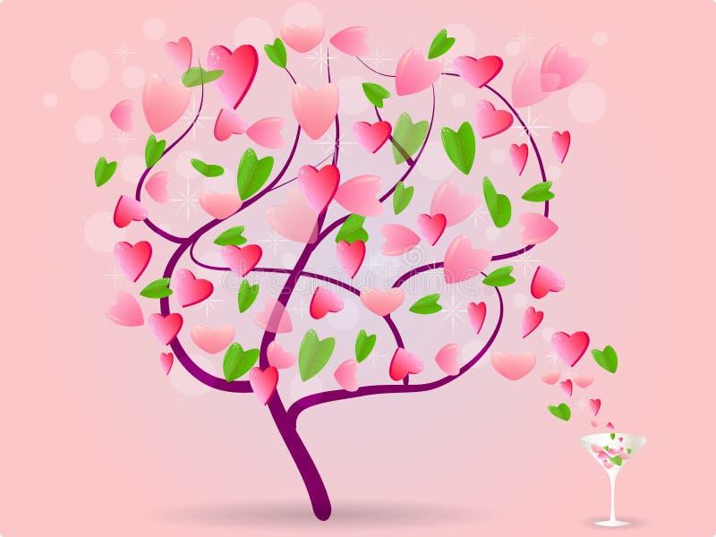 απομονωμένο διάφορο διάνυσμα δέντρων σημαδιών αντικειμένου αγάπης λογότυπων ελεύθερη απεικόνιση δικαιώματος