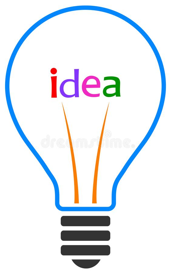 απομονωμένο ιδέα φως βολβών ανασκόπησης μαύρο διανυσματική απεικόνιση