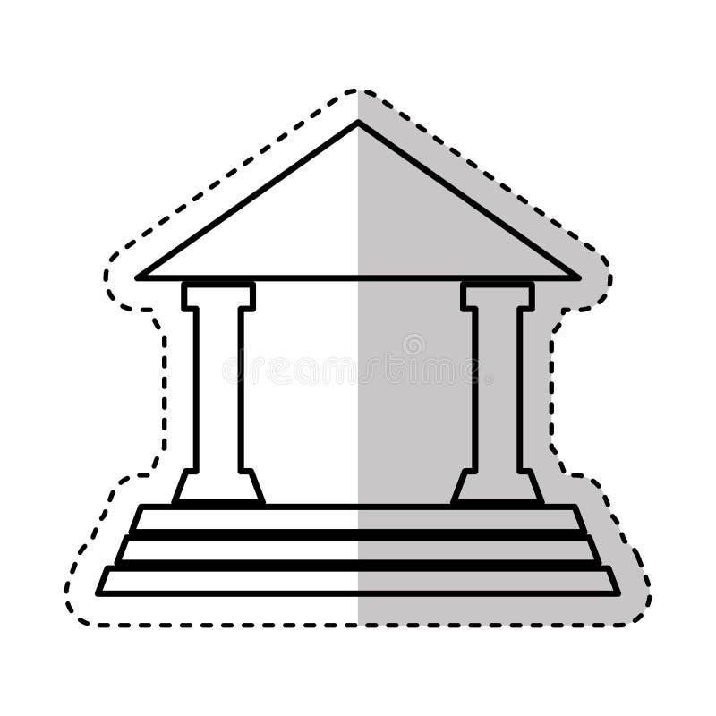 απομονωμένο δικαστήριο εικονίδιο σπιτιών διανυσματική απεικόνιση