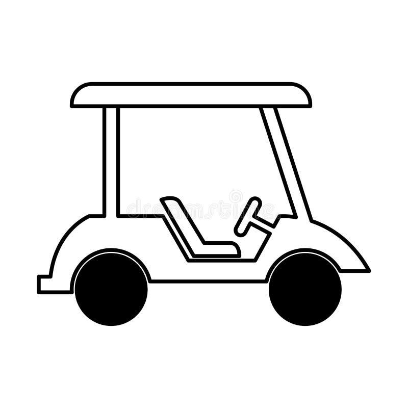 Απομονωμένο κάρρο εικονίδιο γκολφ απεικόνιση αποθεμάτων