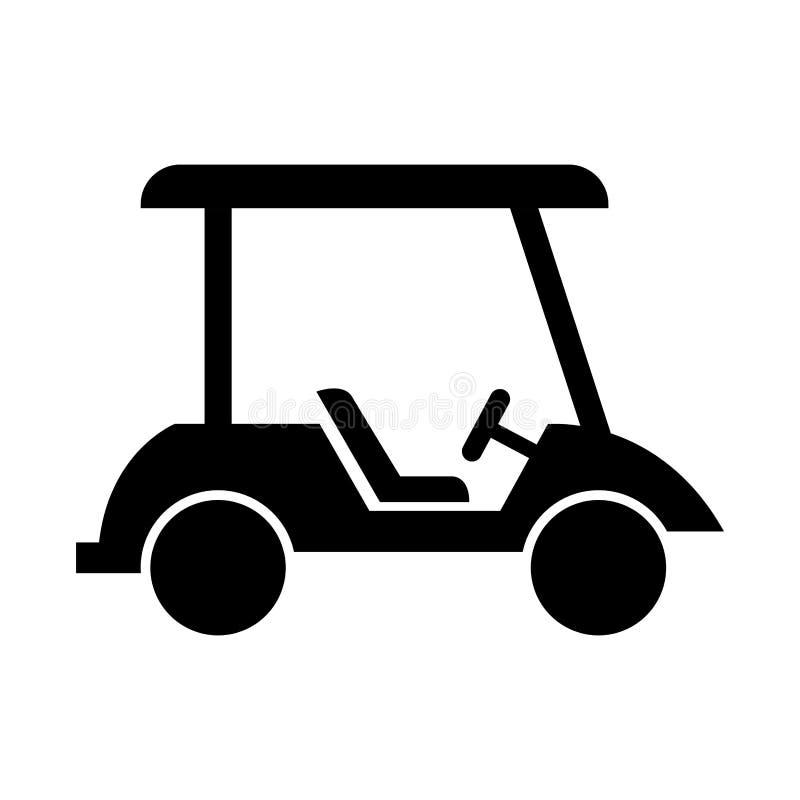 Απομονωμένο κάρρο εικονίδιο γκολφ διανυσματική απεικόνιση