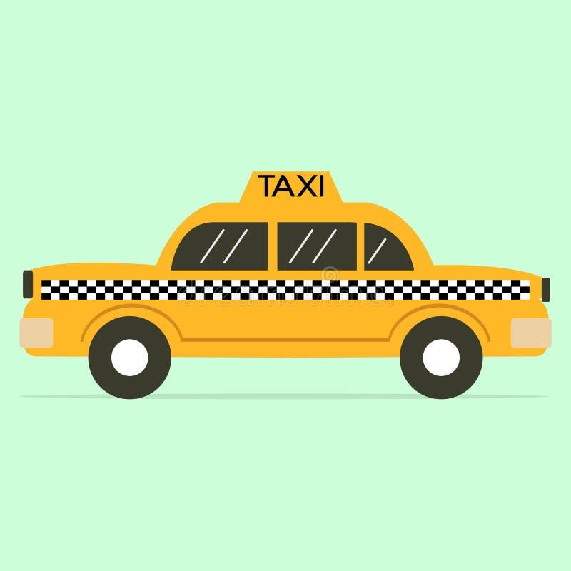 Απομονωμένο κίτρινο επίπεδο εικονίδιο μετρητών ταξί ελεύθερη απεικόνιση δικαιώματος