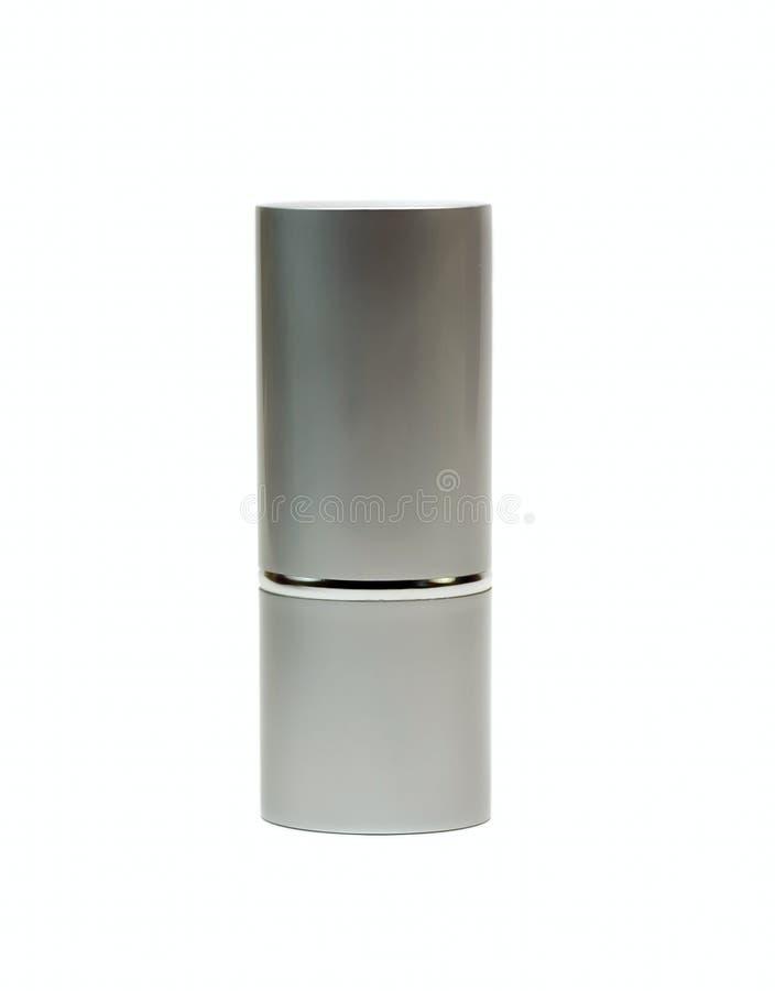 απομονωμένο καλλυντικό λευκό βάζων στοκ φωτογραφία
