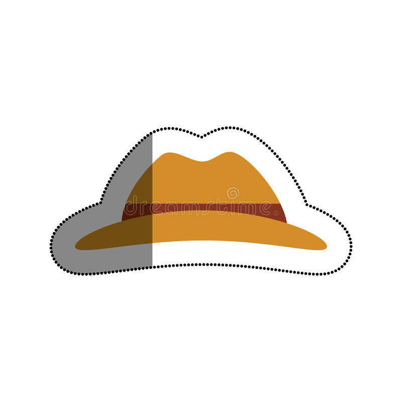 απομονωμένο καπέλο εικονίδιο τουριστών ελεύθερη απεικόνιση δικαιώματος