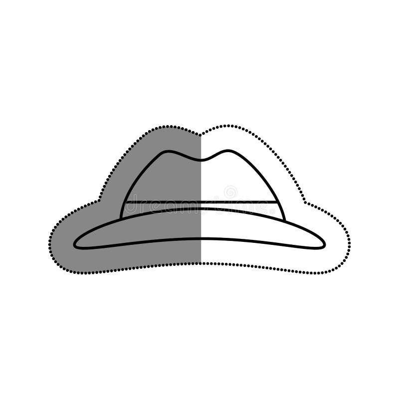 απομονωμένο καπέλο εικονίδιο τουριστών διανυσματική απεικόνιση
