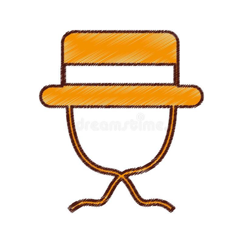 απομονωμένο καπέλο εικονίδιο τουριστών απεικόνιση αποθεμάτων