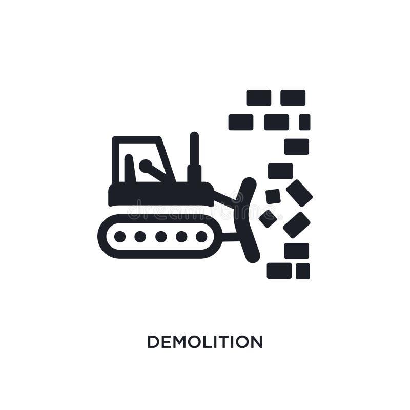 απομονωμένο κατεδάφιση εικονίδιο απλή απεικόνιση στοιχείων από τα εικονίδια έννοιας κατασκευής editable σχέδιο συμβόλων σημαδιών  απεικόνιση αποθεμάτων