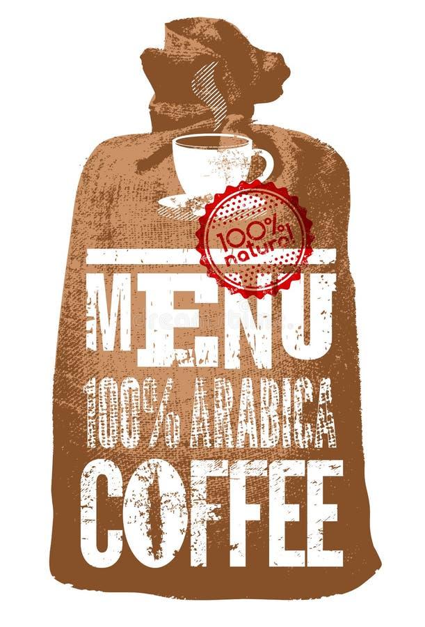 απομονωμένο καφές λευκό καταλόγων επιλογής Τυπογραφική αναδρομική αφίσα για το εστιατόριο, τον καφέ ή το καφέ επίσης corel σύρετε ελεύθερη απεικόνιση δικαιώματος