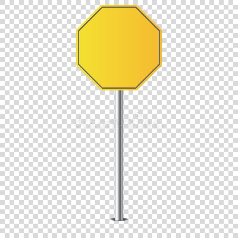 Απομονωμένο κενό οδικών σημαδιών μετάλλων για σας διανυσματική απεικόνιση