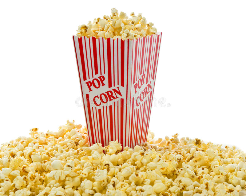 Download απομονωμένο κιβώτιο Popcorn κόκκινο λευκό Στοκ Εικόνες - εικόνα από χρώμα, υγιής: 22777256