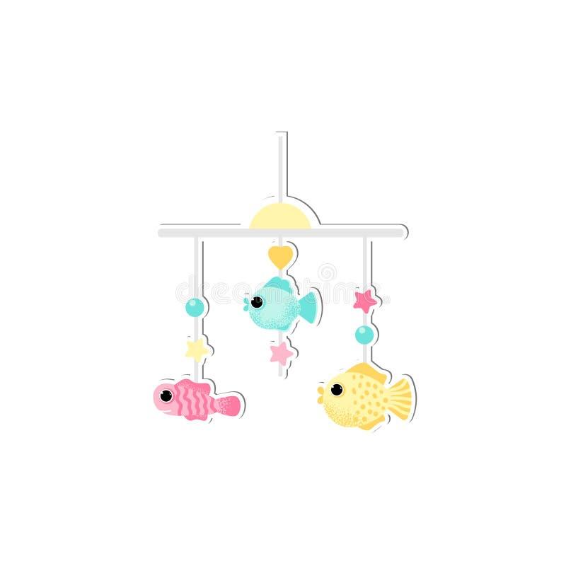 Απομονωμένο κινητό διάνυσμα παχνιών μωρών στο ύφος κινούμενων σχεδίων απεικόνιση αποθεμάτων