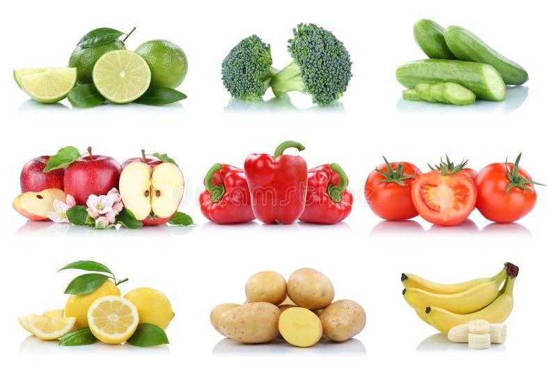 Απομονωμένο λεμόνι β ντοματών μήλων φρούτων και λαχανικών συλλογή στοκ φωτογραφίες με δικαίωμα ελεύθερης χρήσης
