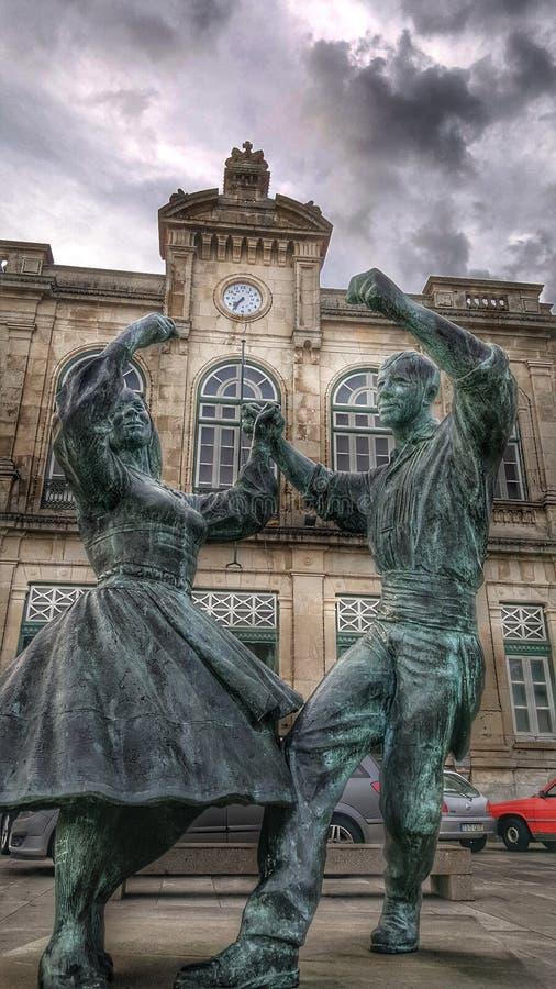 απομονωμένο λευκό ζευγών χορός στοκ φωτογραφίες με δικαίωμα ελεύθερης χρήσης