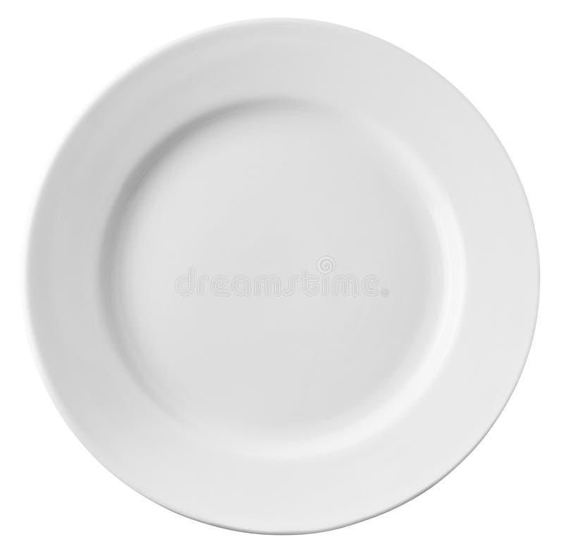 απομονωμένο λευκό πιάτων στοκ εικόνες