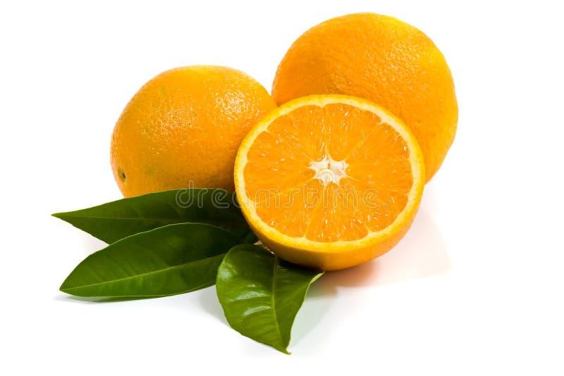 απομονωμένο λευκό πορτοκαλιών στοκ εικόνες με δικαίωμα ελεύθερης χρήσης